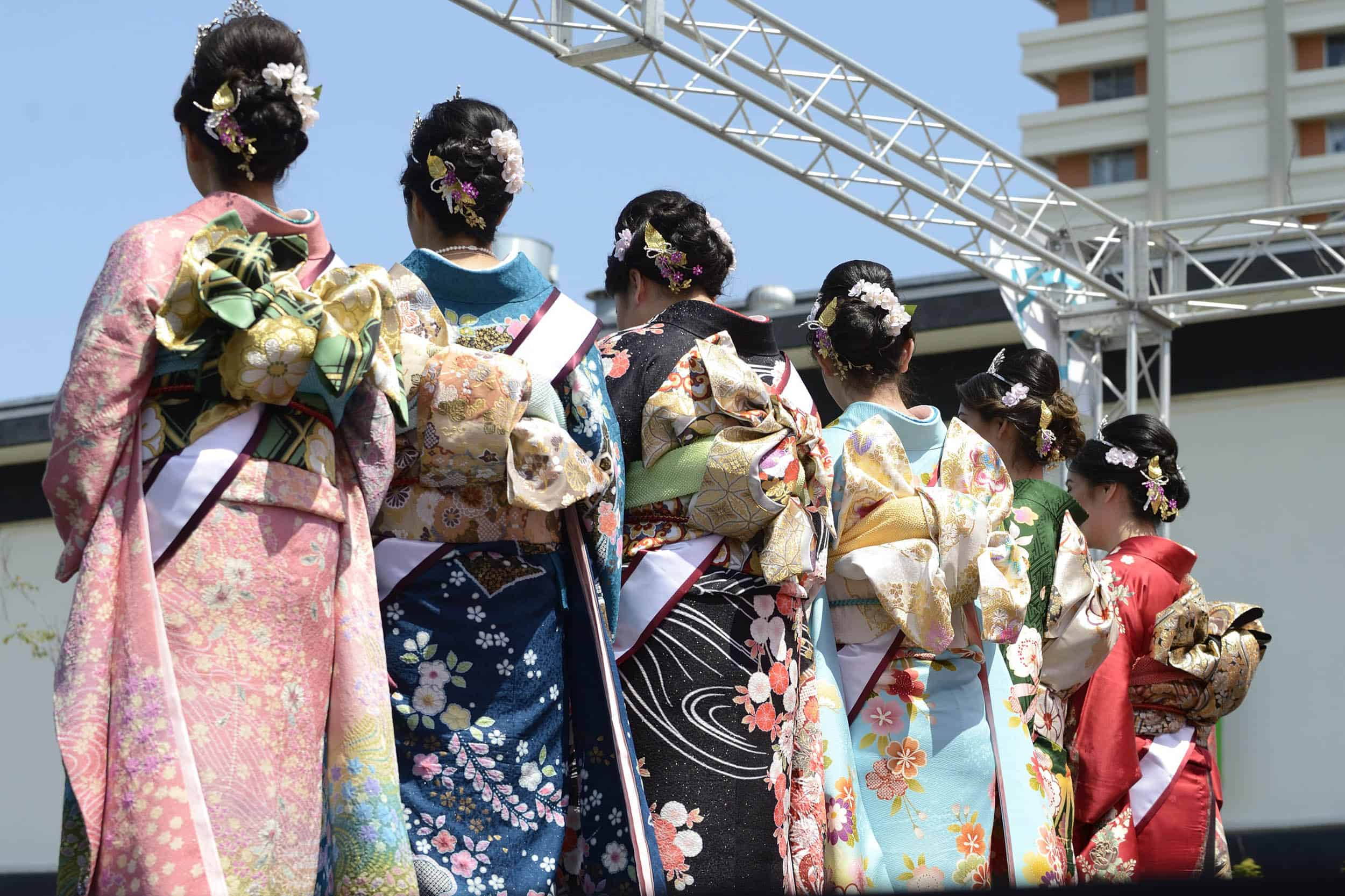 Queen and Court Kimonos at Cherry Blossom Festival